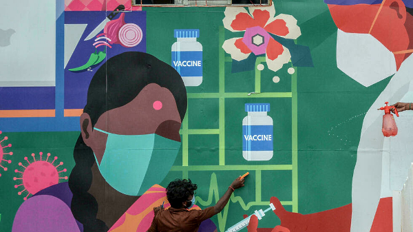 India saw a devastating surge of coronavirus cases in April and May. AFP